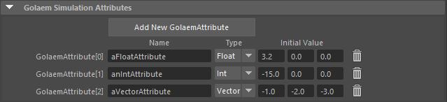 Golaem Attributes for EntityType