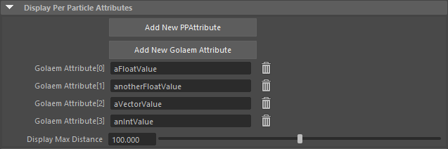 Setting to display some Golaem Attributes