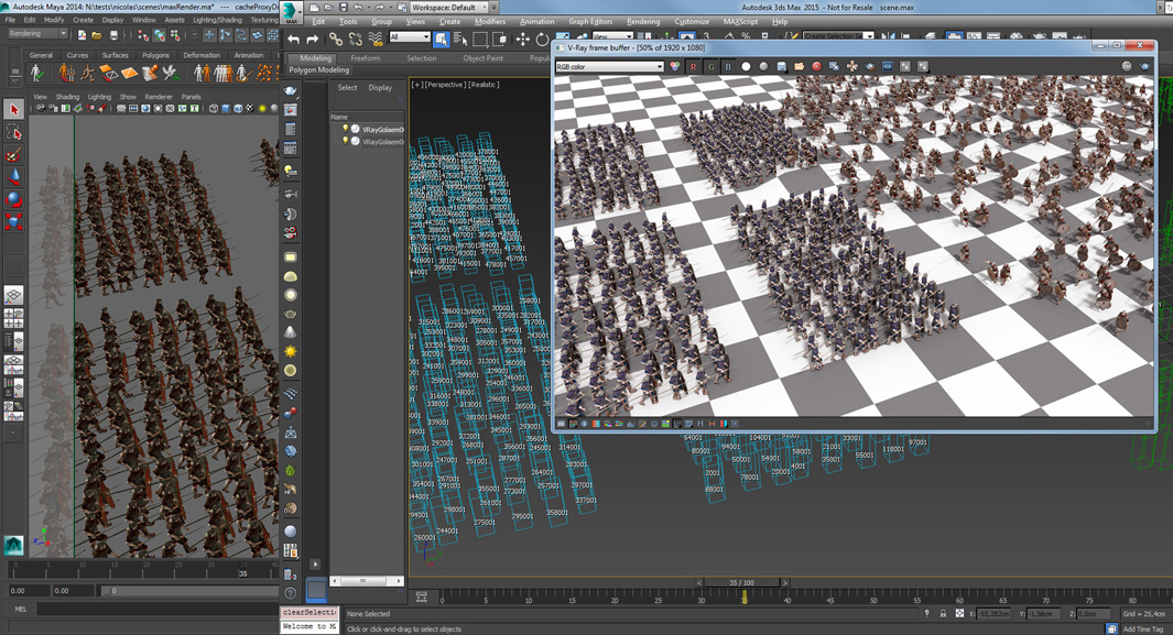 Golaem Releases V-Ray Crowd Rendering Plugin for 3ds Max | Golaem